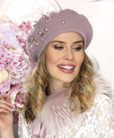 Caciula de dama tip bereta eleganta Mora