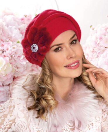 Caciula de dama tip bereta eleganta Roca