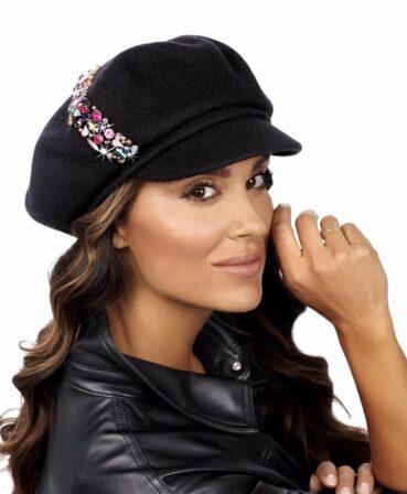 Caciula de dama tip bereta eleganta cu cozoroc Lavar