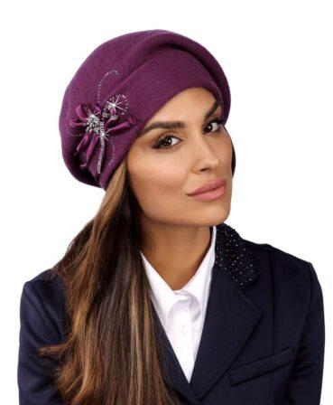 Caciula de dama tip bereta eleganta Pinari