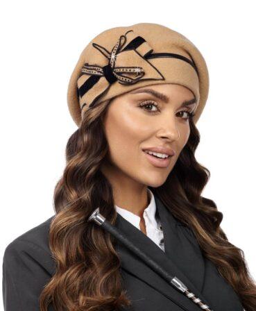 Caciula de dama tip bereta eleganta Beras