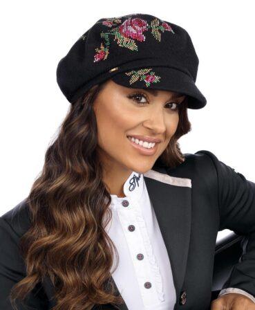 Caciula de dama tip bereta eleganta cu cozoroc Color
